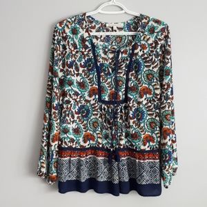 Daniel rain multicolored bohoesque blouse